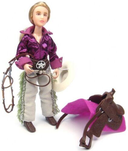 61053 Breyer Classic 1:12 Reiterin Cowgirl Kaitlyn Western Zubehörset ohne