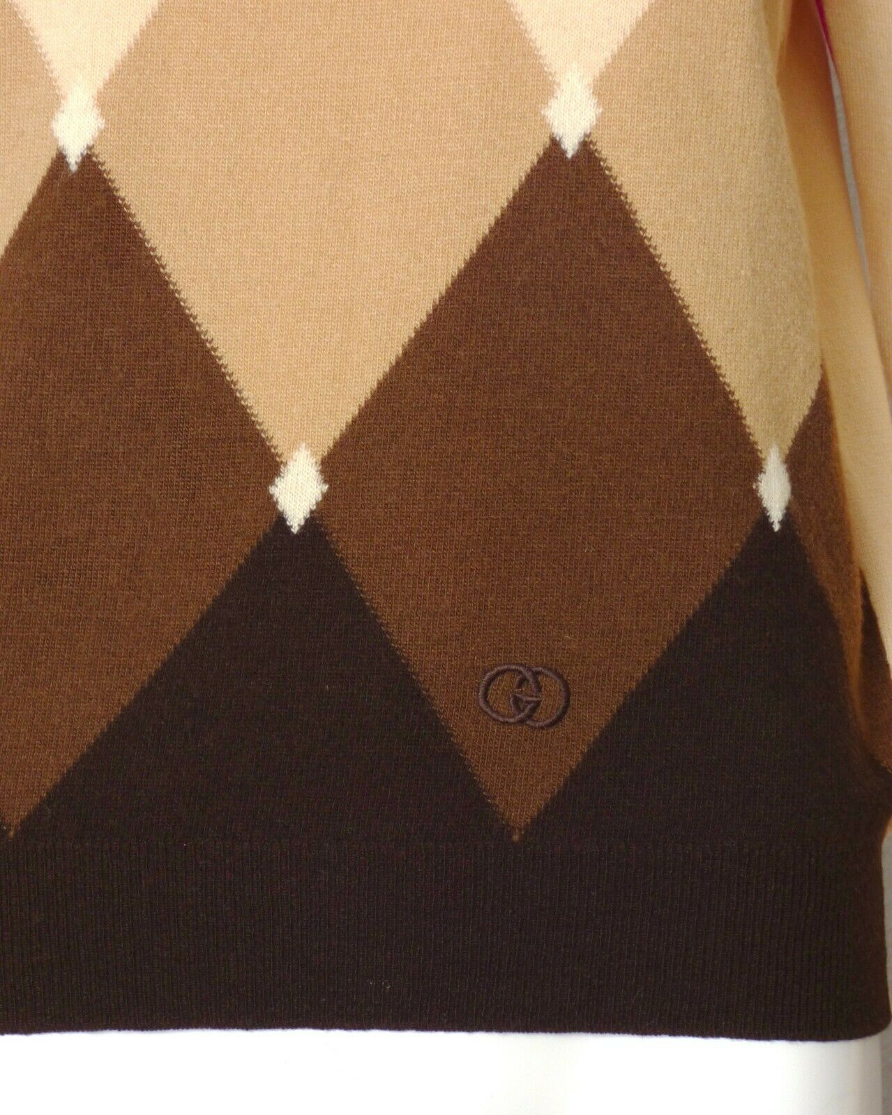 GUCCI-1970s Cashmere Sweater, Size-8 - image 4