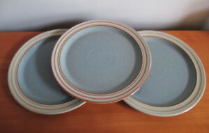 Denby-Heritage-Terrace-Set-3-Salad-Plates-8-3-4-034-Blue-Rust-Stoneware-England