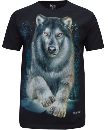 New Biker Wolf Eagle Native American Red Indian T-Shirt Front /& Back Print M-3XL