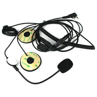 2-Pin Motorcycle Helmet Headset Microphone Finger PTT for BAOFENG Kenwood TYT
