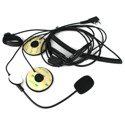 5Pcs 2-Pin Motorcycle Helmet Headset PTT MIC Earpiece for Baofeng Kenwood Radio