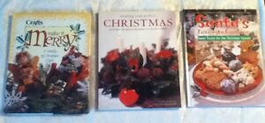 VINTAGE-HOLIDAY-BOOKS-Perfect-Christmas-Santa-Favorite-Cookie-Craft-Make-Merry