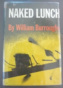 NAKED LUNCH-WILLIAM BURROUGHS-1959-1ST ED-W/$6.00 DJ-A