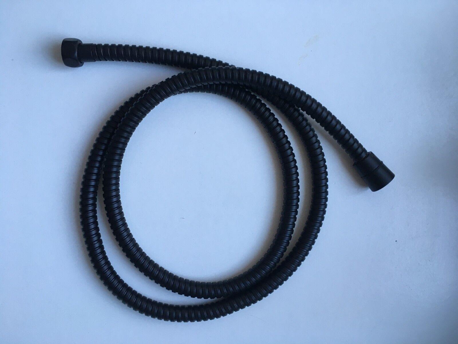 Metall-Brauseschlauch 1 2  x 1 2  - Duschschlauch 150 cm 1,5m  schwarz matt