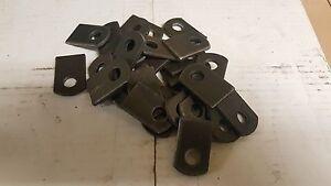 """Weld On  Steel Flat Tab Brackets 25 pcs- 1"""" x 1-1/2"""" x 1/8""""  thick,3/8 hole."""