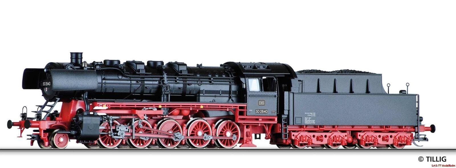 TT máquina de vapor br 50 2840 tragado con tender DB EP. III Tillig 02097