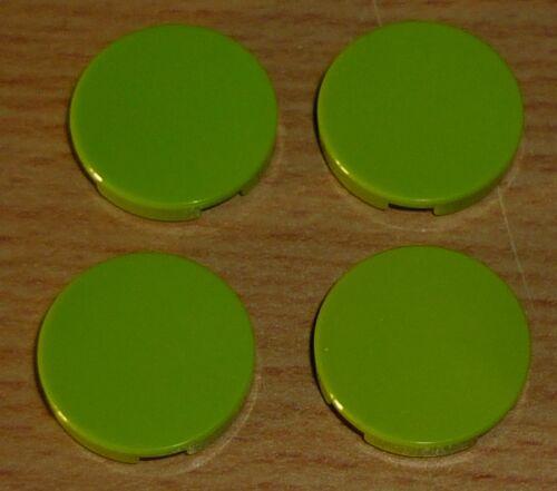 Lego 4 runde Fliesen 2 x 2 in lime grün