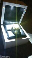 FANCY WHITE PIANO LED LIGHTED GENUINE MARBLE WOOD ENGAGEMENT RING GIFT BOX
