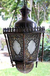 Image Is Loading Antique Vintage Old Ornate Br Bronze Lantern Chandelier