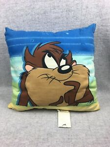 Vintage-Tweety-Bird-amp-TAZ-Tazmanian-Devil-2001-Looney-Tunes-18-Pillow