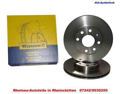 BAR22151 2x Bremsscheibe Bremse BARUM