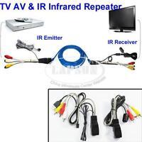 TV Extender AV Transmitter Sender 1 Receiver IR Infrared Repeater Cat5/6e NU101