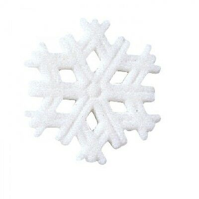 Sugar Decorations Cookie Cake Cupcake Winter Christmas SNOWFLAKE 12 ct.