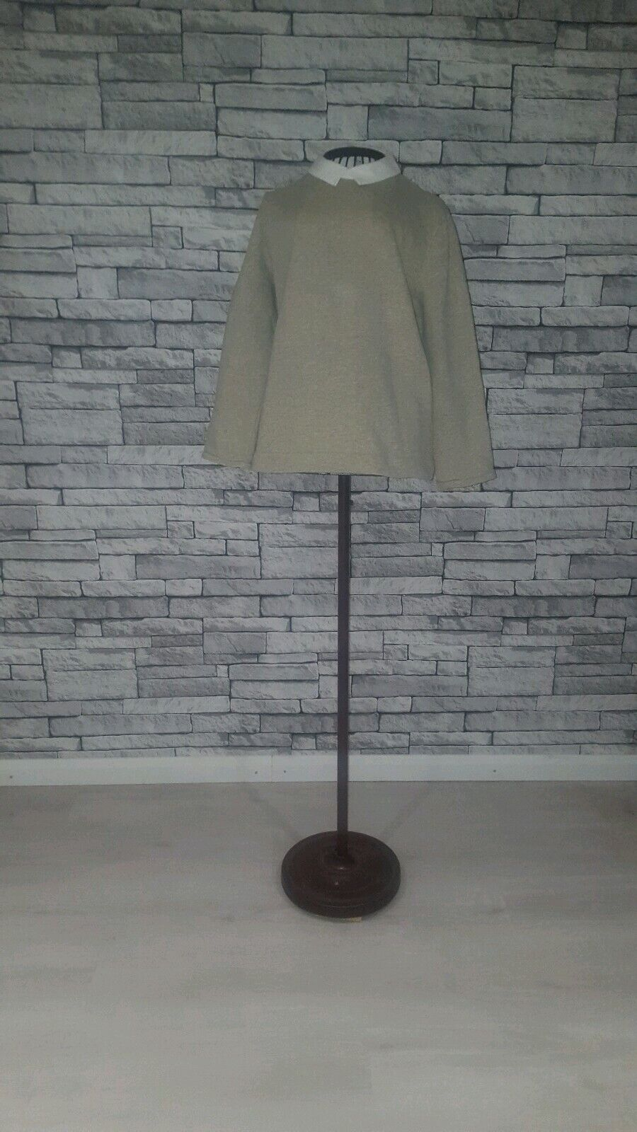 Size Small COS Grey White Peter Pan Collar Cotton Shirt Jumper Combo