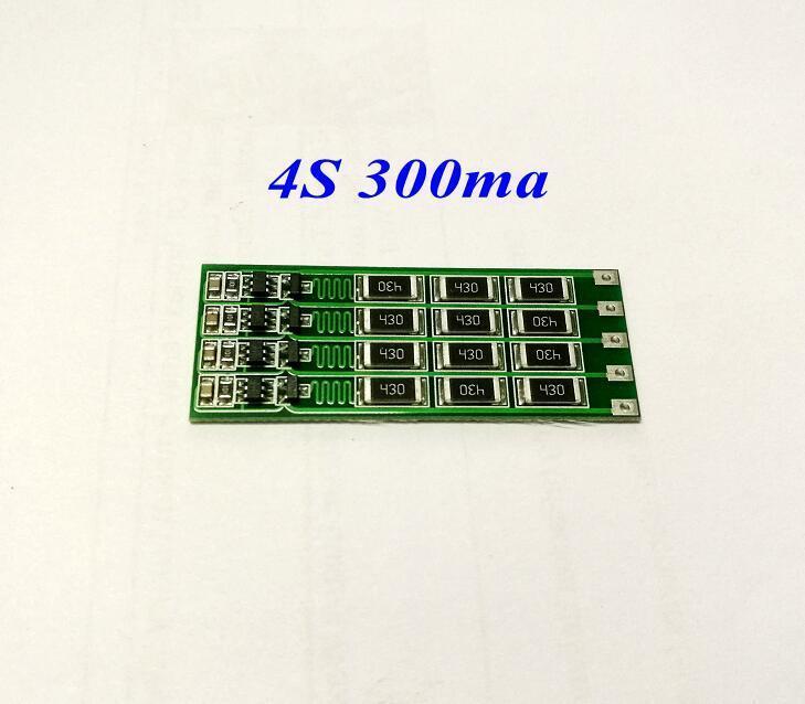 4 S 14.8V 16.8V 18650 Polymer Lithium Battery Equalizer Board Balanced 300mA