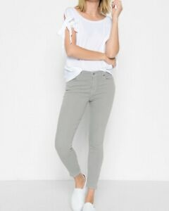 NWT-7-For-All-Mankind-The-Ankle-Skinny-Jeans-in-Agave-Size-25