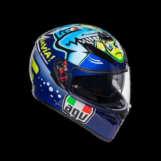 AGV K3-SV Misano 2014 Rossi Misano Motocicleta Casco