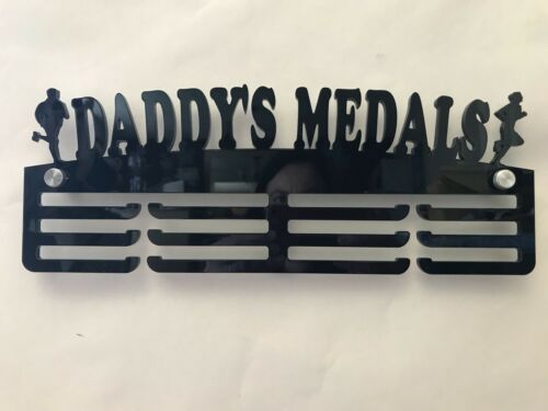 5mm Thick Acrylic 3 Tier DADDY/'S MEDALS Medal Hanger// Rack Holder Ideal Gift