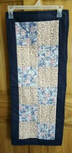 Handmade Table Runner Double Sided Floral Design Hand Stitched Quilted Free Ship