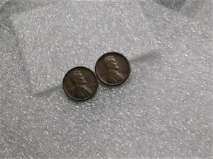 1912-amp-1916S-Lincoln-Head-Penny-VF-1912-1916-S-2-Different-Wheat-Pennies-Coins