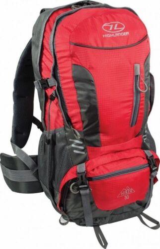 HIGHLANDER ruc234 randonneur marche randonnée sac à dos avec raincover 30L rouge