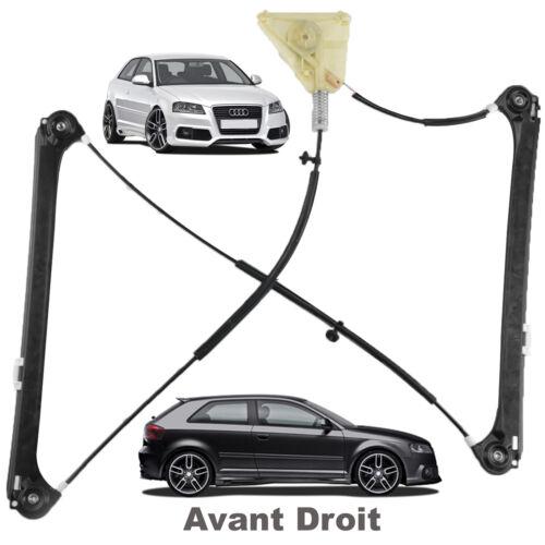 Mecanisme Leve Vitre Avant Droit Audi A3 8p 2 Portes S3 8p3837462a 8p3837462b