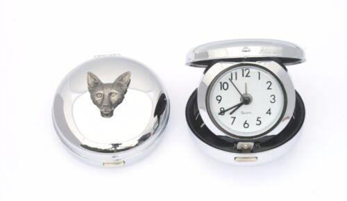 Fox Face Design Portable Quartz Movement Alarm Clock Hunting GIft