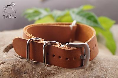 Handmade watch strap Tan Any size available Military pilot style RAF