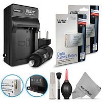 2x Vivitar Nb-10l Battery + Charger Kit For Canon Powershot Sx50 Sx60 G3 X G16 on sale
