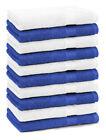 Betz 10 Toallas de cara 30x30cm PREMIUM 100% algodón de colores azul y blanco