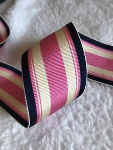 "PINK Texans  1/"" wide grosgrain ribbon 5 yards listing"