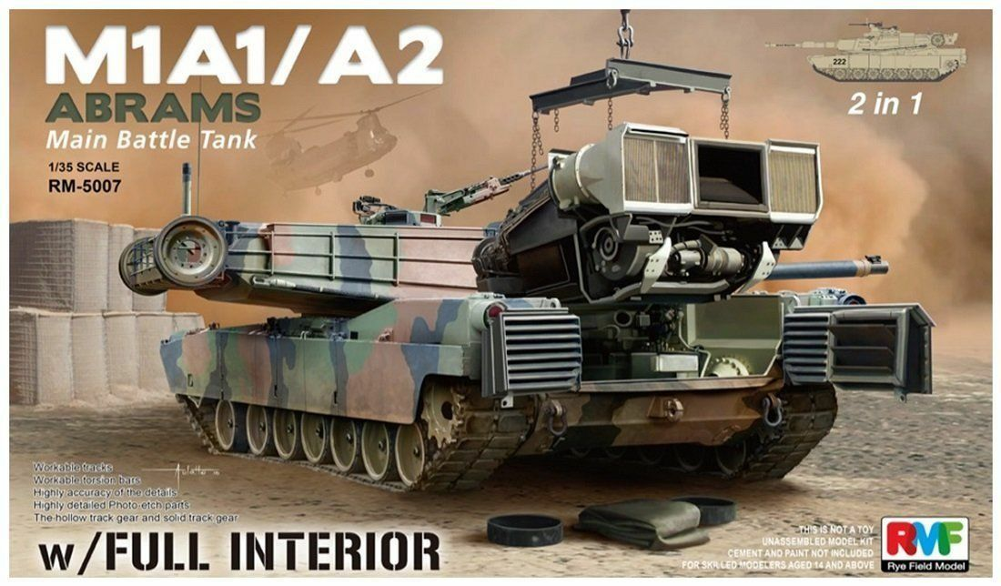RYE FIELD MODEL M1A1   A2 ABRAMS MAIN BATTLE TANK  1 35 RM5007