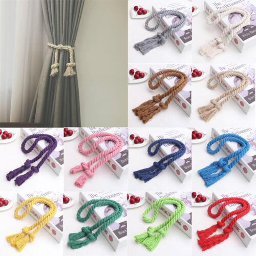 Handmade Curtain Cotton Linen Rope Tie Backs Tiebacks Holdbacks Home Decoration