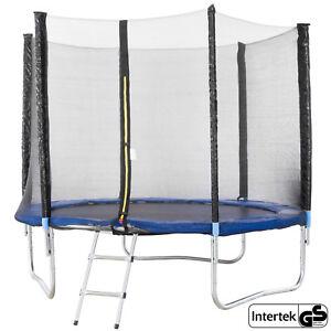 Trampolino-elastico-con-Rete-di-Sicurezza-244-cm-8-ft-Tappeto-Elastico