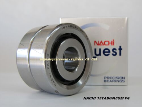 NACHI 15TAB04U//GM P4 Abec-7  Precision Ball Screw Bearings Matched Set of Two