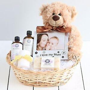 Image is loading Pamper-New-Mum-amp-Baby-Gift-Basket-Newborn-