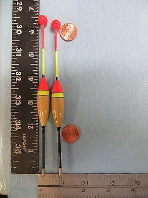 2 New Wood Slip Bobber Floats  B41