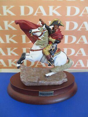 1/32 54 Mm Soldatino Napoleone A Cavallo Sulle Alpi Con Base In Legno