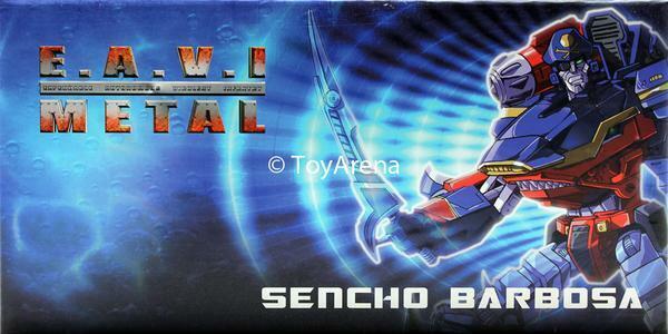 KFC e.a.v.i Metal fase dos Sencho Barbosa Figura De Acción Transformers Rey Tiburón