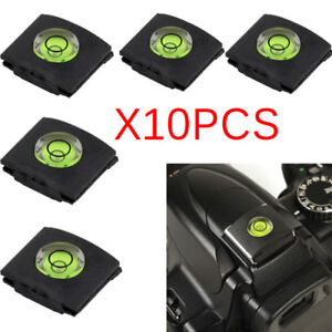 10pcs Hot Shoe Bubble Spirit Level Cover Cap For Canon Nikon Pentax DSLR Camera^