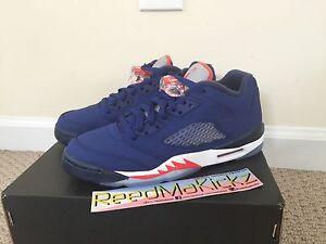 Nike-Air-Jordan-5-Retro-low-2016-Deep-royal-blue-Knicks-grade-school-youth-size