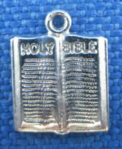 VINTAGE-STERLING-SILVER-HOLY-BIBLE-CHARM