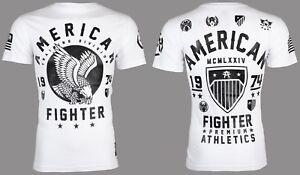 AMERICAN FIGHTER Mens T-Shirt FORT HAYS Eagle WHITE Athletic Biker Gym UFC $40