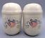 thumbnail 1 - Vintage Geese Goose Couple Blue Ribbon & Pink Heart Salt Pepper Shakers Ceramic