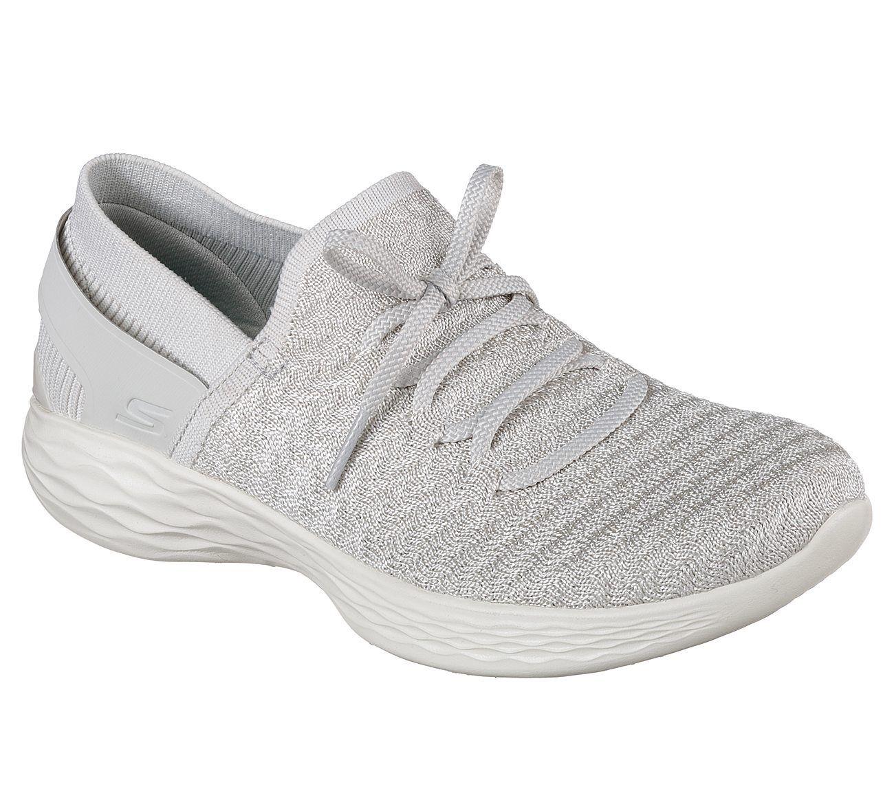 NEU Walking SKECHERS Damen Sneakers Turnschuhe Walking NEU YOU - BEGINNING Silber 20d5cf