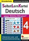 SelbstLernKartei Deutsch 4 von Autorenteam Kohl-Verlag (2015, Taschenbuch)