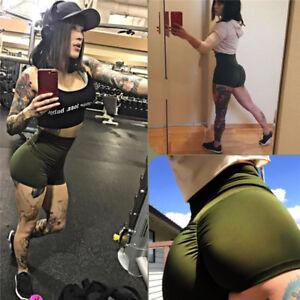 99c40b0f22f52e Das Bild wird geladen Damen-Shorts-Sport-Hotpants-Sportshorts-Gym-Fitness- Kurz-