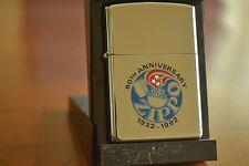 ZIPPO Lighter, 60th Anniversary, High-Polish Chrome, 2001, Sealed, M995