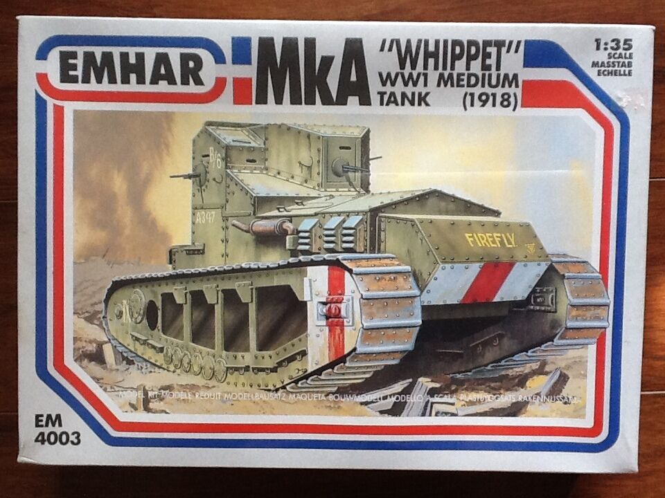 EMHAR 1 35 WW 1 BRITISH Mk A  WIPPET   MEDIUM BATTLE TANK  FACTORY SEALED